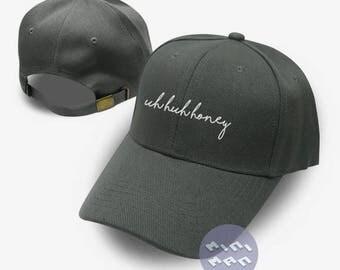 uh huh honey Hat Embroidery  Baseball Cap  Fashion Hat Tumblr Pinterest Unisex Size