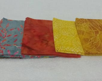 Batik Fat Quarters Autumn Tones  - 5 Pack
