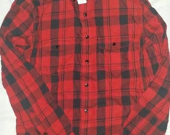 Gap Classic Lumberjack Red Button-Front Shirt Size Medium (US) Vintage