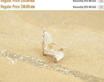 BIG SALE On Sale Beach Lounge Chair 3D Charm / Pendant Sterling Silver 2.7g