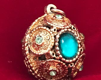 Victorian gold plated mourning locket