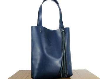 Leather tote, real leather, tote bag, leather purse, leather tote, leather shopper, women's bag, market bag, leather laptop bag