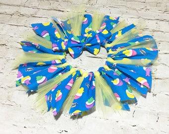 Little Fairy Set- Fabric Tutu; Peeps Fabric Tutu Skirt; Fabric Tutu Skirt; Baby Tutu; Newborn Tutu; Infant Tutu; Easter Tutu; Photo Prop