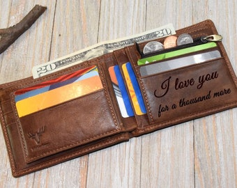 Mens Wallets Personalized Wallet Groomsmen Gift For Mens Gifts For Dad Credit Cards Wallet Leather Mens Wallet Gift For Christmas Gift Xmas