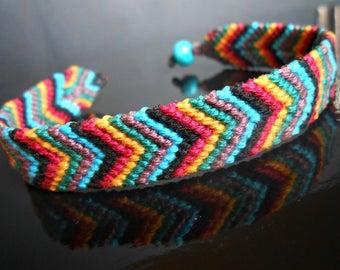 Woven macrame Reversible bracelet
