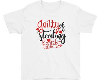 Guilty of Stealing Hearts Youth Short Sleeve T-Shirt kid tee