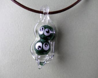 Peas in a Pod- Glass Pendant- Love and Friendship