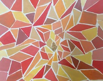 Acrylic Artwork (Original) - Orange Foil