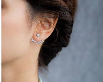 Handcrafted ear cuffs- earrings/cuff/ear cuffs/sterling silver/bridal/bridal jewelry/birthday/gifts for her/christmas/handmade
