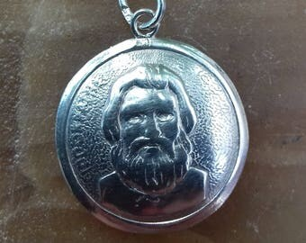Pendant silver with the image of  Hippocrates of Kos (lived then 460 BC-370 BC),