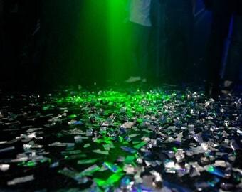 Biodegradable silver confetti