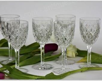 St Louis Florence 6 Burgundy wine glasses set