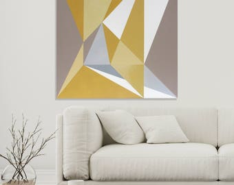 ORIGINAL Abstract Painting, Modern Geometric Composition