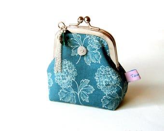 Porte monnaie rétro porte monnaie pour femme en tissu patchwork fleuri Flore