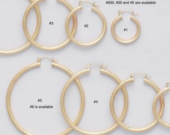 4 mm Gold Filled Endless Hoop Earrings/ PATTERNED/ Gold Filled Hoop/ LATCH BACK Closure/ Infinity Hoops/ Selling by One pair