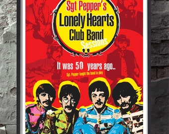 The Beatles sgt peppers lonely hearts club band  Specially created unframed wall decor art