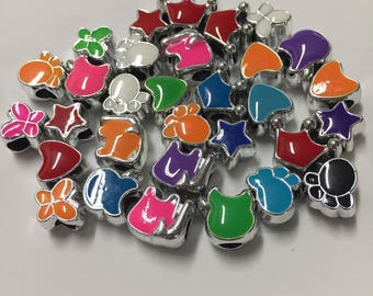 Cute colorful kid charms for charm bracelets