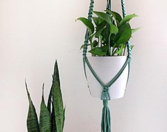 """Macrame Plant Holder / Sage Color / 47"""" Long / 6mm Cord"""