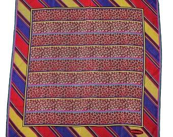 Missoni foulard scarf women's multicolor 100% silk 86 cm x 86 cm