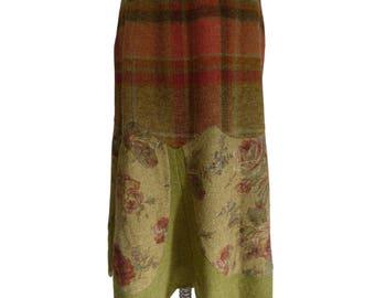 Etrò skirt wool andsilkhippy floral size46 vintage