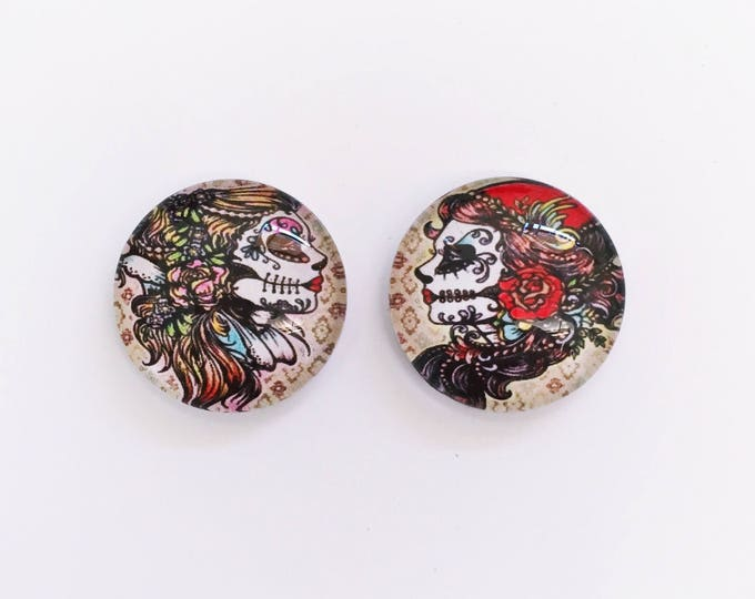The 'Lindsey' Glass Earring Studs