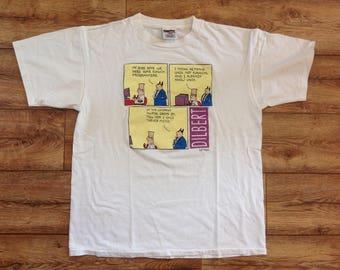 Vintage Dilbert comic strip t shirt