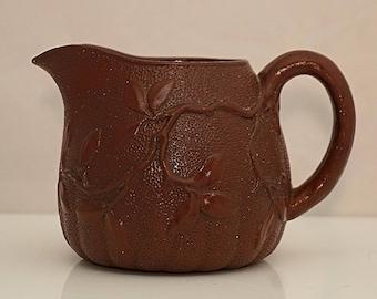 MINTON C1856 Date marked Relief molded Japanesque Salt Glazed Stoneware Victorian Pottery Jug