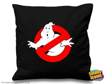 GhostBusters Logo - Cushion/Pillow Cover - Inspired by the 1984 Classic Film - Who you gonna call?