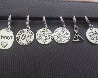 Harry Potter stitch marker set//Magical Progress Keepers// Always Knitting Marker