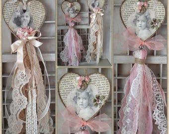 Vintage Tassel Hearts