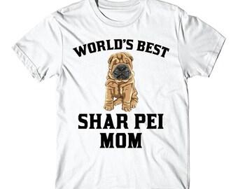 World's Best Shar Pei Mom Dog Owner Graphic T-Shirt