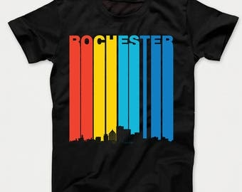 Vintage 1970's Style Rochester New York Skyline Kids T-Shirt