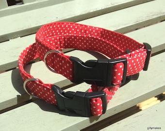Dog Collar - Red Dotty