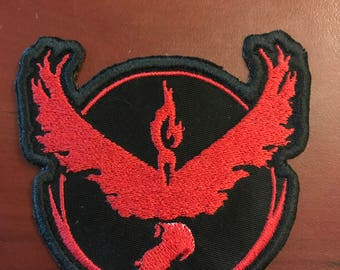 Pokemon Go Team Valor Embroidered Patch