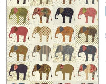 Elephants Quilt Pattern