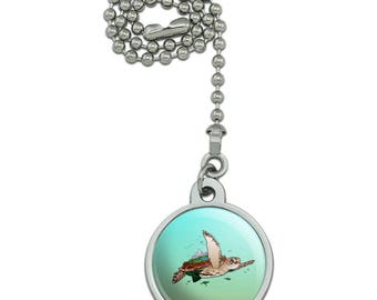 Sea Turtle Flying Ceiling Fan and Light Pull Chain