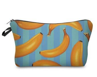 3D printed banana make up multipurpose pouch wash bag case