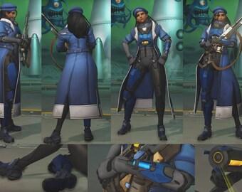 Ana Captain Amari skin Handmade Costume Cosplay Overwatch Custom Order