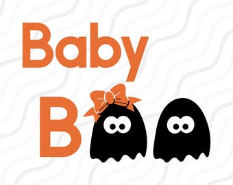 Baby Boo SVG, Cute Ghost svg, boo svg, Halloween SVG Cut table Design,svg,dxf,png Use With Silhouette Studio & Cricut_Instant Download
