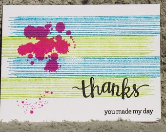 Thanks simple note card, blank cards, any occasion cards, thank you cards, gratitude cards