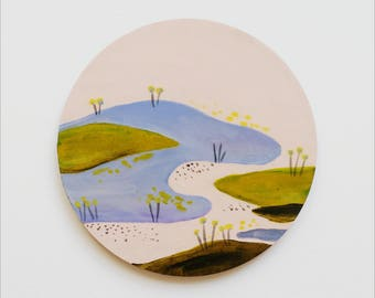 Hand painted coaster