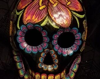 Black Dia de los Muertos Mask