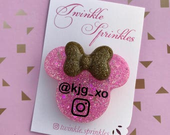 Personalised Instagram Minnie Mouse brooch