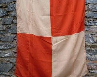 Another U! Old Signal Flag. Vintage 1960s Maritime Flag