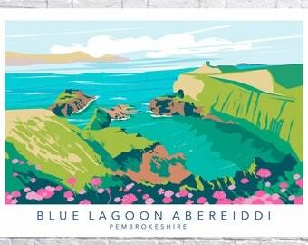 Blue Lagoon Abereiddi, Pembrokeshire Poster