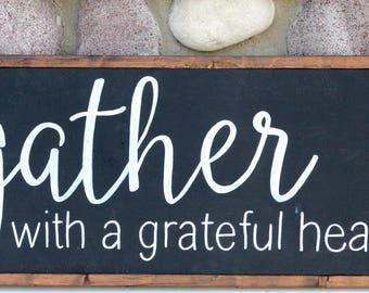 Gather Here - Farmhouse Sign