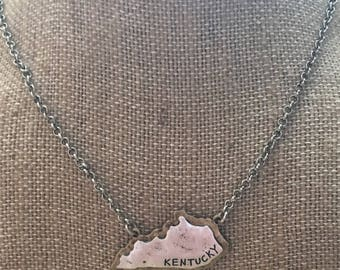 Kentucky Necklace- Kentucky Jewelry- Kentucky Accessories- Mixed Metal Necklace- State Jewelry- State Accessories- Kentucky- State Jewelry-