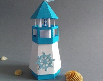 Lighthouse shaped favor box