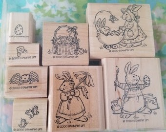 Stampin Up! 8pc Easter Stamp set 2000 RETIRED