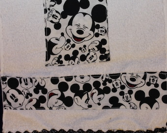 Mickey Mouse White Towel